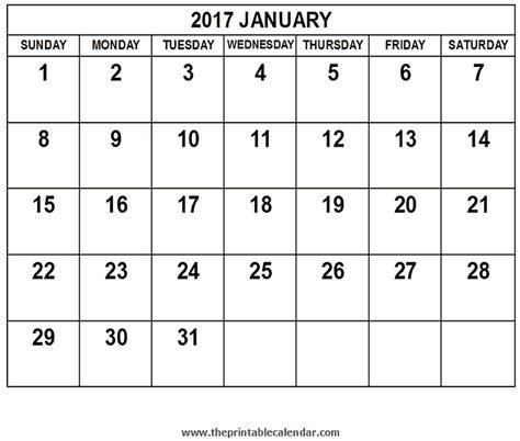Calendar 2017 January January 2017 Calendar Related Keywords January 2017