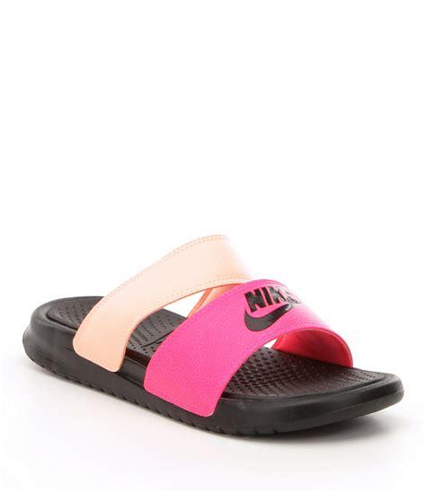 nike slide on sandals nike benassi duo ultra slide sandals dillards