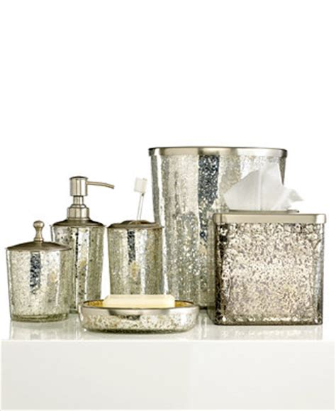 Paradigm Bath Accessories Crackle Glass Ice Collection Crackle Glass Bathroom Accessories
