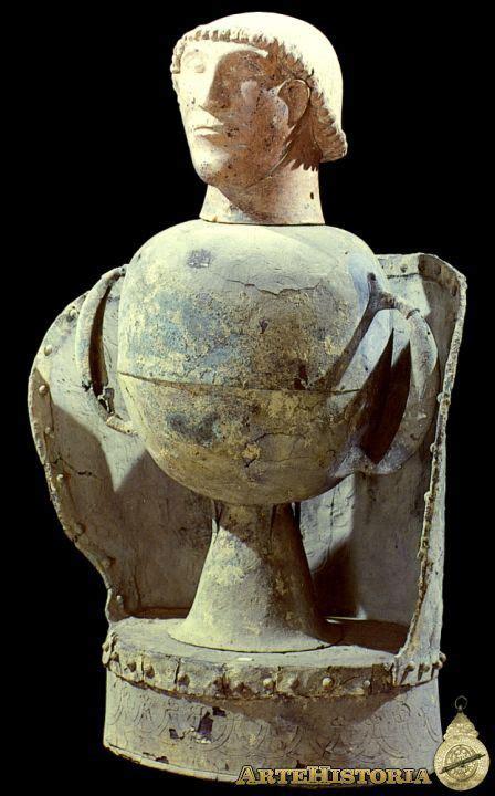 vaso canopo etrusco urna canopo procedente de chiusi autor fecha siglo vi a