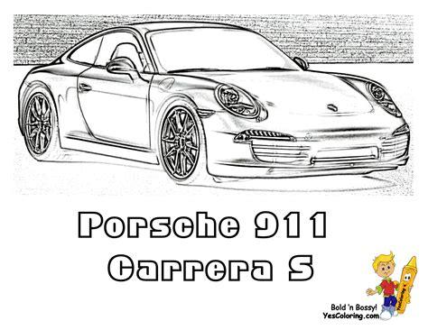 Gusto Car Coloring Pages Porsche Corvette Free 911 Coloring Pages