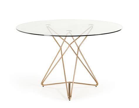 Glass Dining Table Modern Modrest Ashland Modern Glass Dining Table
