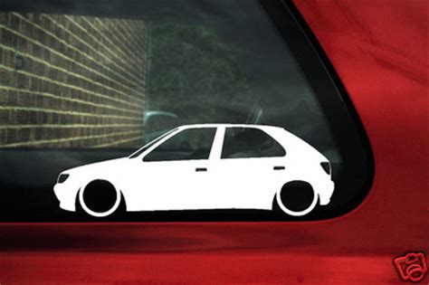 peugeot   door xsi  turbo  gti    outline stickers silhouette decals