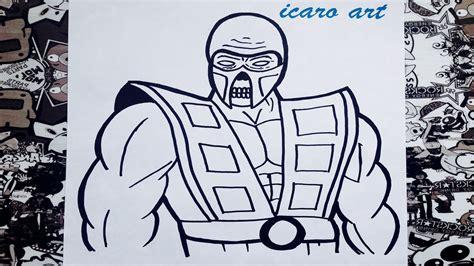 imagenes de mortal kombat para dibujar faciles como dibujar a scorpion how to draw scorpion mortal