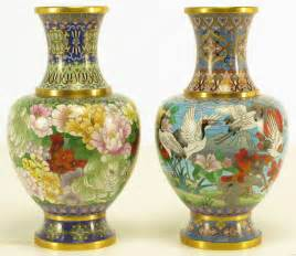 pair colorful cloisonne vases at 1stdibs