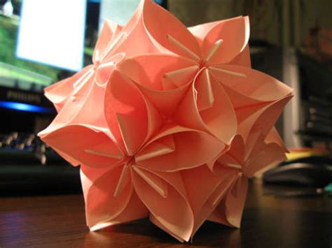 How To Make Flower Paper Balls - michart origami kusudama flower