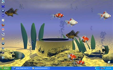 wallpaper desktop bergerak xp desktop aquarium syahidacomputer