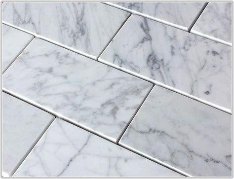 bianco carrara marble subway tile tiles home