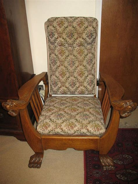 antique leather recliner chairs antique quartersawn oak morris chair recliner work