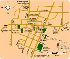map of solvang hotels solvang california
