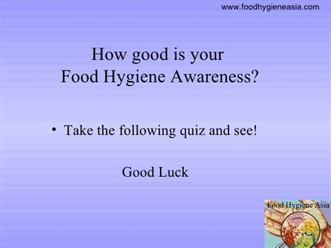 Food Hygiene Quiz Food Hygiene Quiz Food Hygiene Asia