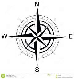 black and white compass raster stock illustration image