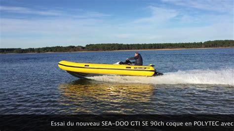 sea doo wave boats test sealver wave boat 575 rib sea doo gti se 2017