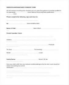 parental consent form template doc 10821400 parental consent form boynton