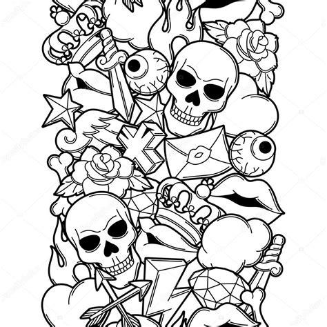 tattoo old school symbols mod 232 le sans couture avec symboles de tatouage r 233 tro