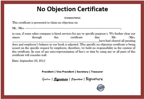 company employment certificate sample copy noc letter format for