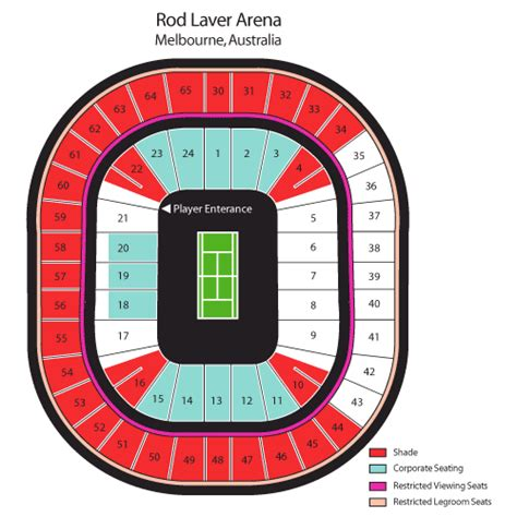 best seats rod laver arena tennis australian open tennis tickets schedules and seating chart