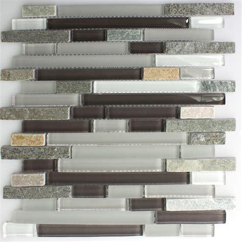 fliesen verbund glasmosaik mit naturstein verbund grau braun tm33344