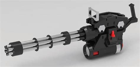 Kaos 3d Gafting Gun gundam s gatling gun papercraft arte papercraft gundam and guns