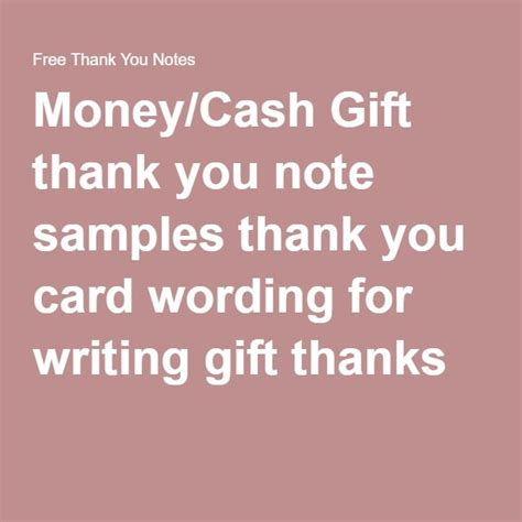 Thank You Note Template Money As 25 Melhores Ideias De Gifts No