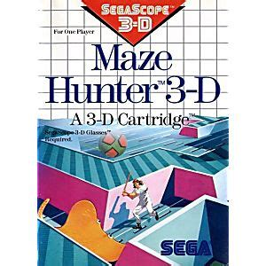 maze hunter 3d sega master system game used