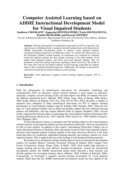 research paper model addie model research paper