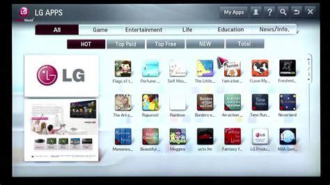 lg tv mobile app lg smart tv premium content smart world