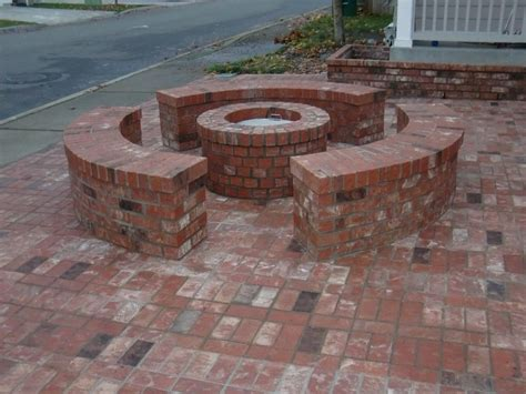 backyard brick fire pit excellent patio design with fire pit ideas patio design 259