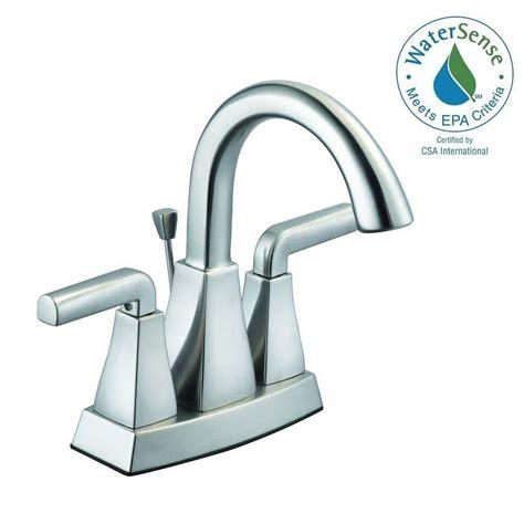 Glacier Bay Two Handle Bathroom Faucet by Glacier Bay Builders 4 In Centerset 2 Handle Low Arc