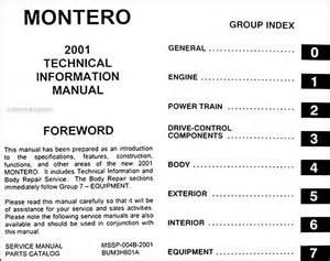 Mitsubishi Montero Owners Manual 2001 Mitsubishi Montero Manual Original