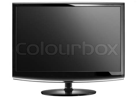 Tv Lcd 800 Ribuan modern widescreen lcd tv monitor isolated on white stock photo colourbox