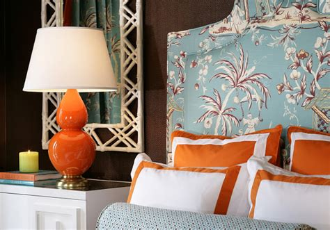 blue and orange bedroom eye for design decorating with the blue orange color