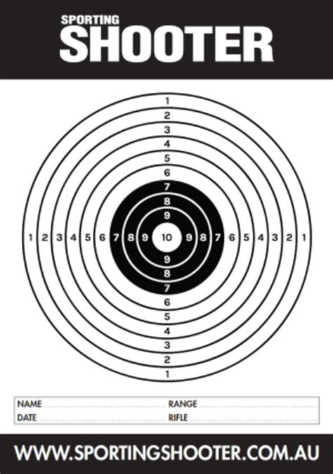 printable competition targets free printable targets sporting shooter