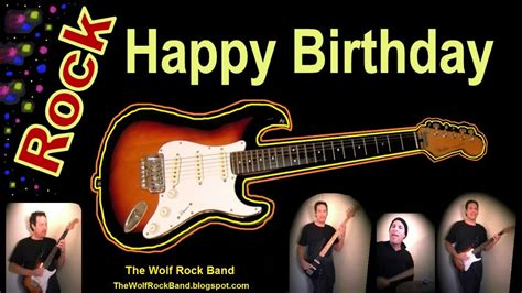 Happy Birthday Song Card Happy Birthday Song Rock Version Birthday Card