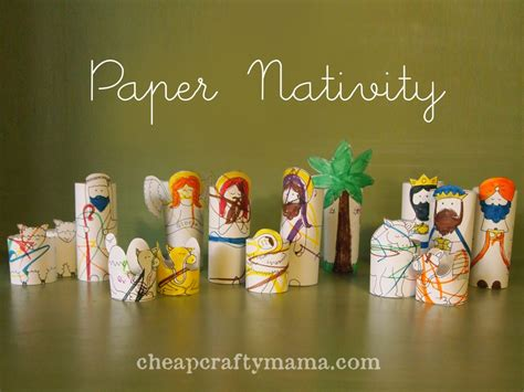 Nativity Paper Craft - diy nativity projects sugar bee crafts