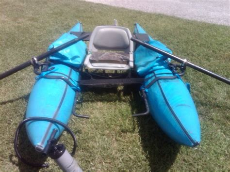 inflatable one man pontoon boats one man pontoon boat 550 classified odds ends