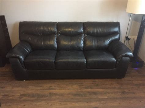 Dfs Pavilion Real Leather 3 Seater Deluxe Sofa Bed In Dark Dfs Leather Sofa Bed