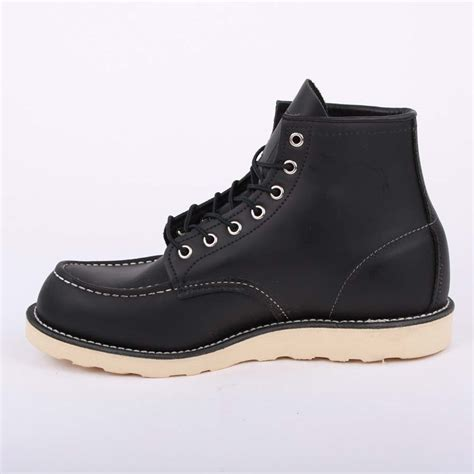 Original Blackmaster Low Boots Wings Black wing moc toe 08130 mens laced leather boots shoes black ebay