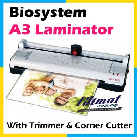 Mesin Laminate Biosystem Biosystem 340c 3in1 Top Quality A3 Laminator Laminating