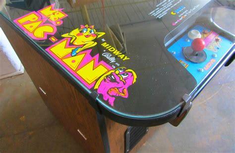 ms pacman cocktail table arcade specialties ms pac cocktail table