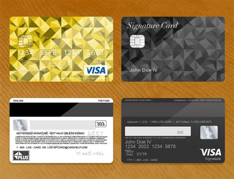 Visa Card Template by Shop Bank Card Credit Card Plus Psd Template