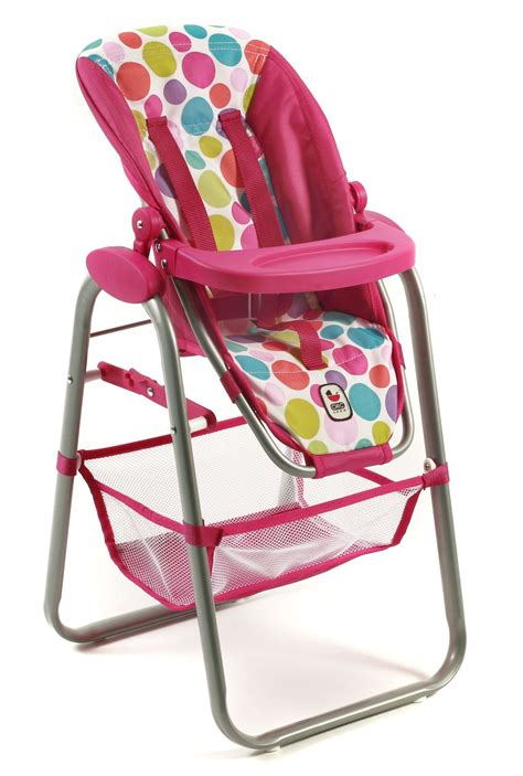 bayer design doll high chair bayer chic 2000 dolls high chair pink bubbles