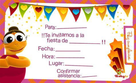 para imprimir de invitacion a fiestas de cumpleanos infantiles view babytv invitaciones de cumplea 241 os