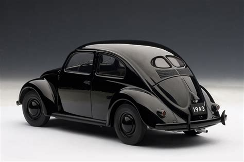 volkswagen bug black autoart 1943 volkswagen beetle kafer limousine black