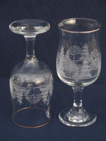 christmas patterned wine glasses white christmas pattern wine glasses or water goblets 8 stems