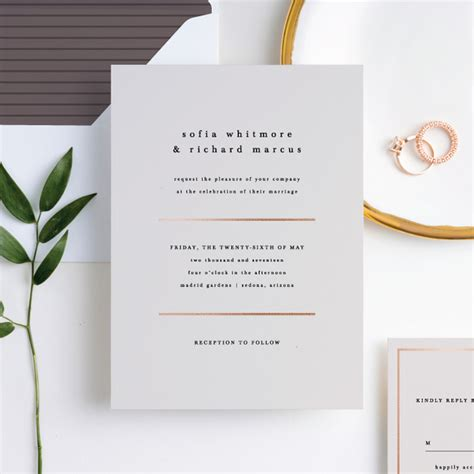 wedding invitations for less less is more wedding invitations paper culture
