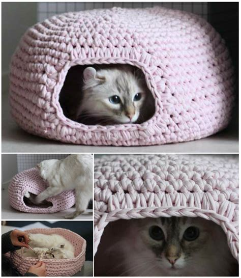 free crochet pattern cat cave cute and cuddle crochet cat cave