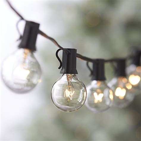 string bulb lights outdoor globe string lights crate and barrel
