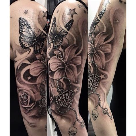 lily quarter sleeve tattoo follow me on pinterest melanin 24 7 body art pinterest