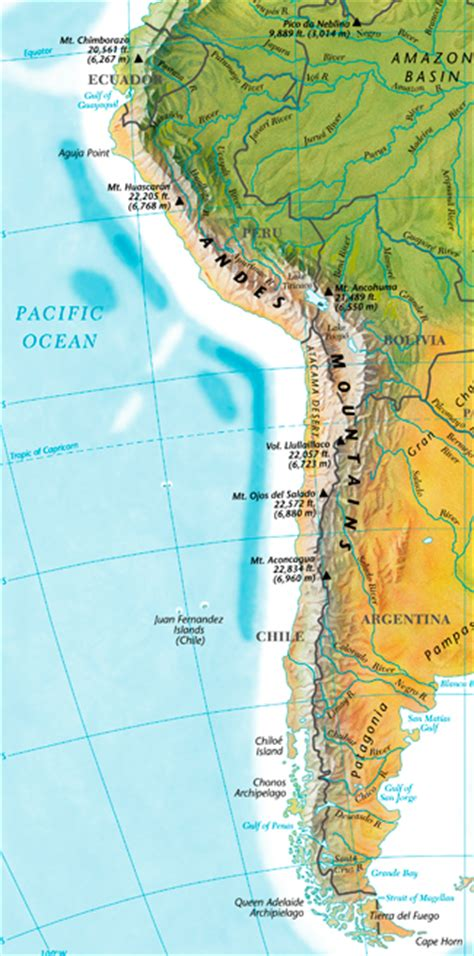 andes mountains map the andes mountains aksik